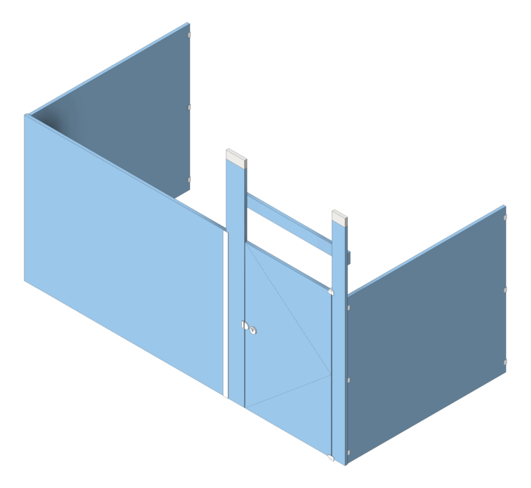 Cubicle_CeilingHung_AccuratePartitions_HDPE_Alcove_3D Shaded