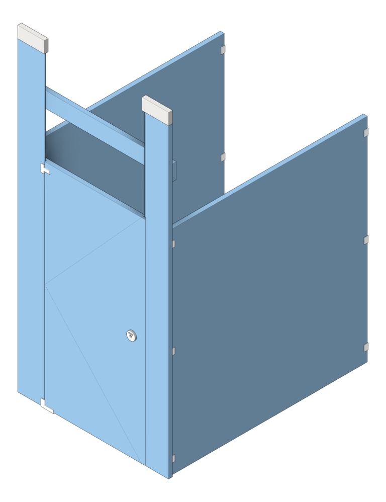 Cubicle_CeilingHung_AccuratePartitions_HDPE_UltimatePrivacy_3D Shaded