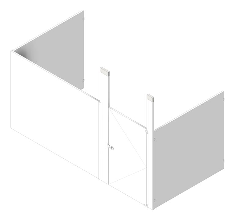 Cubicle_CeilingHung_AccuratePartitions_PowderCoatSteel_Alcove_3D Shaded