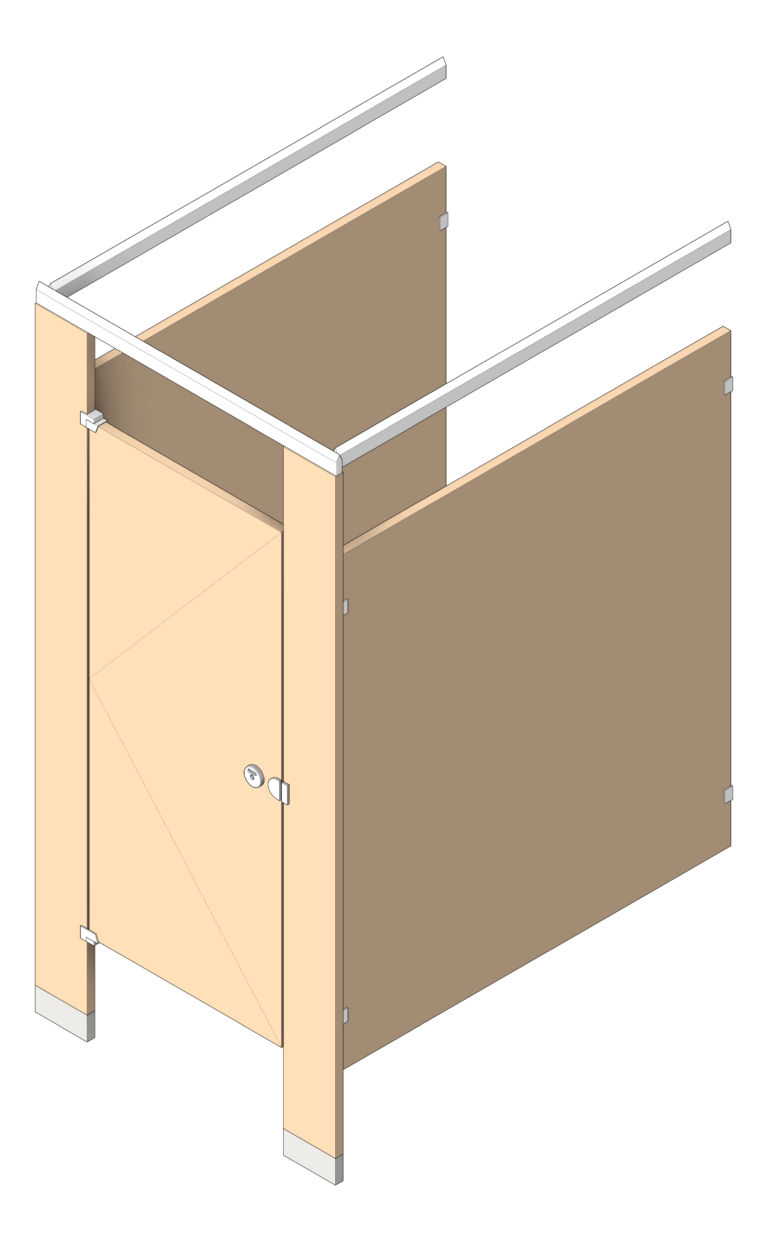 Cubicle_FloorAnchored_AccuratePartitions_LaminateLegacy_OverheadBraced_3D Shaded