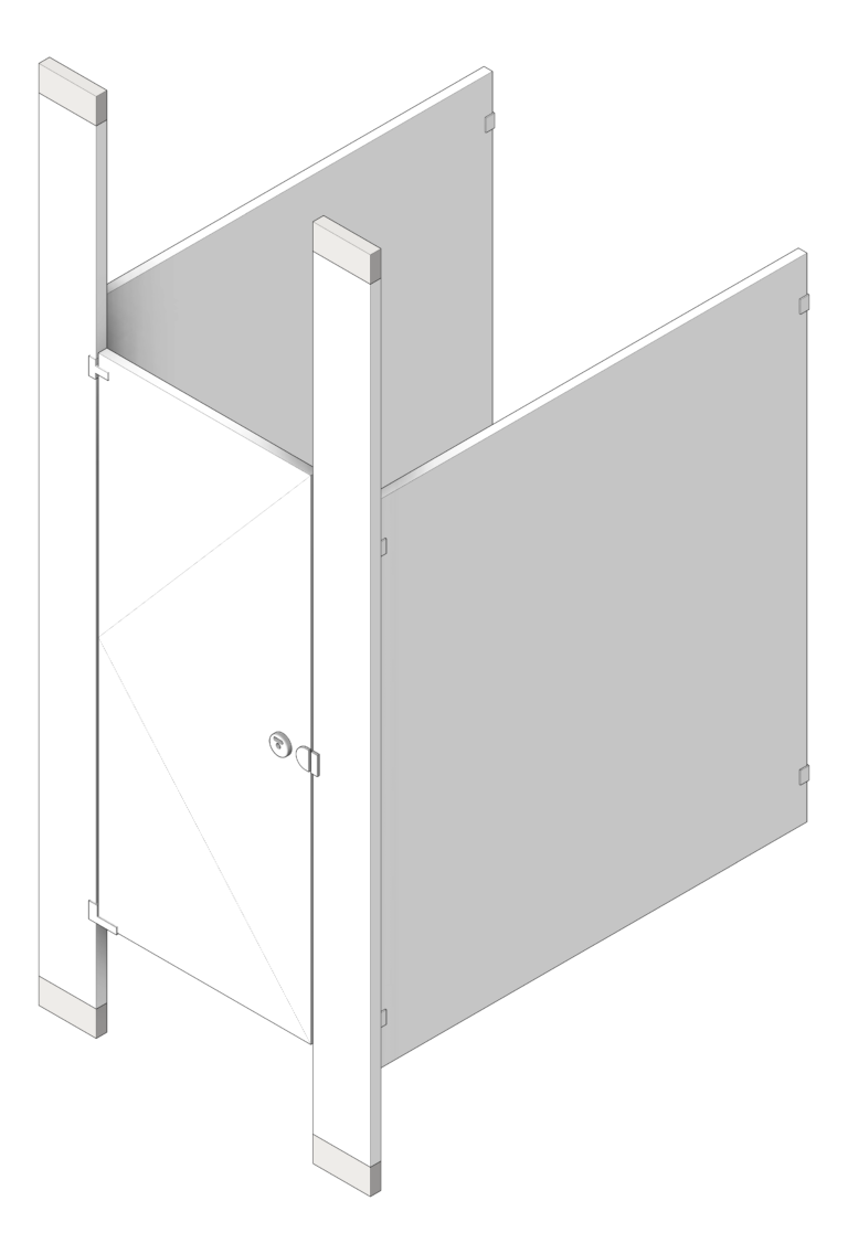 Cubicle_FloorToCeilingAnchored_AccuratePartitions_PowderCoatSteel_3D Shaded