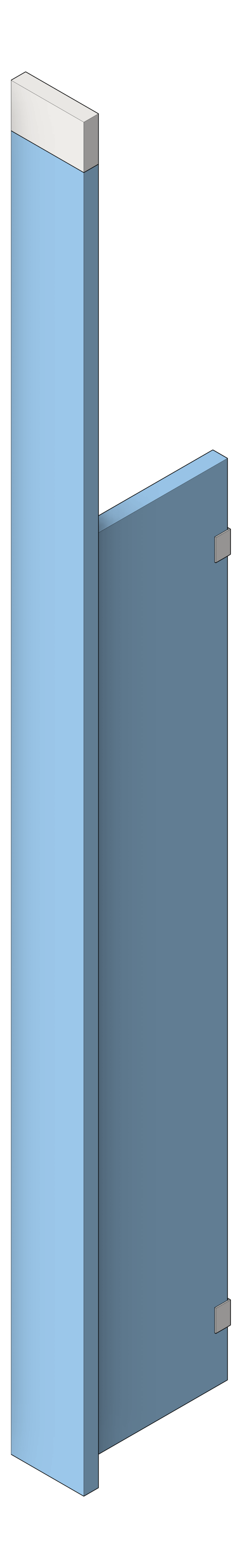 UrinalScreen_CeilingHung_AccuratePartitions_HDPE_3D Shaded