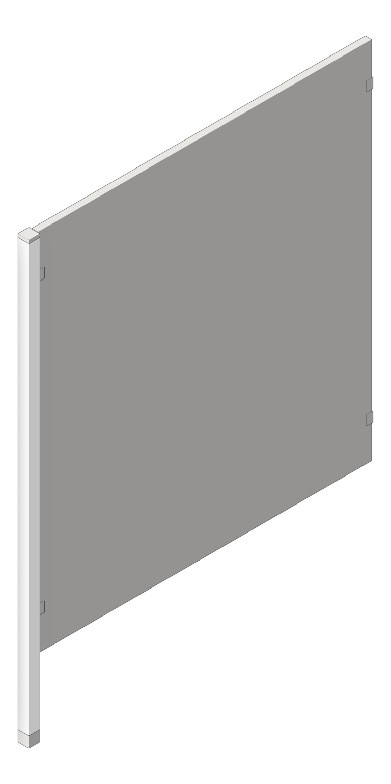 UrinalScreen_FloorAnchored_AccuratePartitions_StainlessSteel_PostMount_3D Shaded