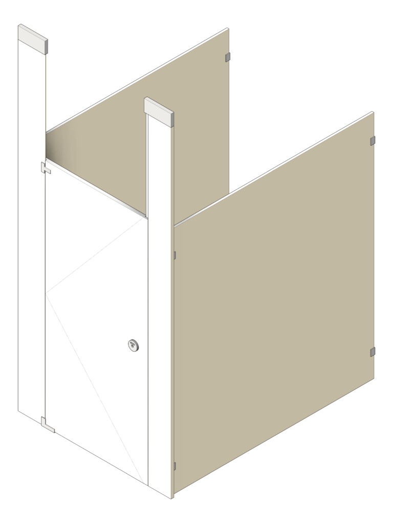 Cubicle_CeilingHung_GlobalPartitions_PhenolicBlackCore_UltimatePrivacy_3D Shaded
