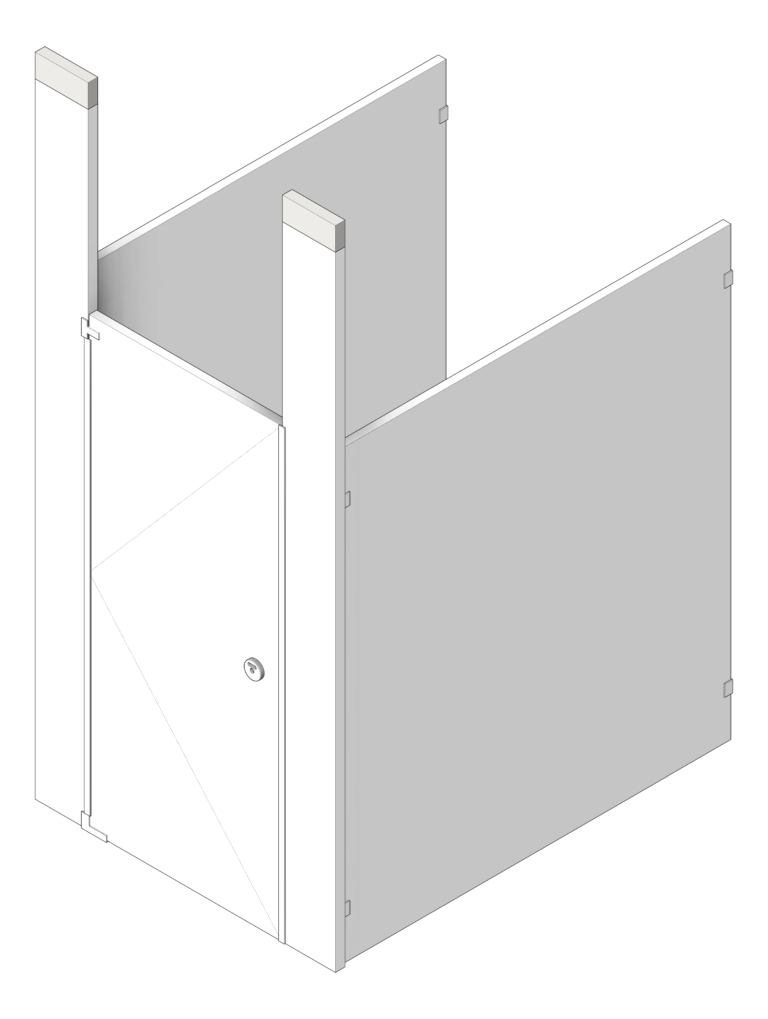 Cubicle_CeilingHung_GlobalPartitions_PowderCoatSteel_UltimatePrivacy_3D Shaded