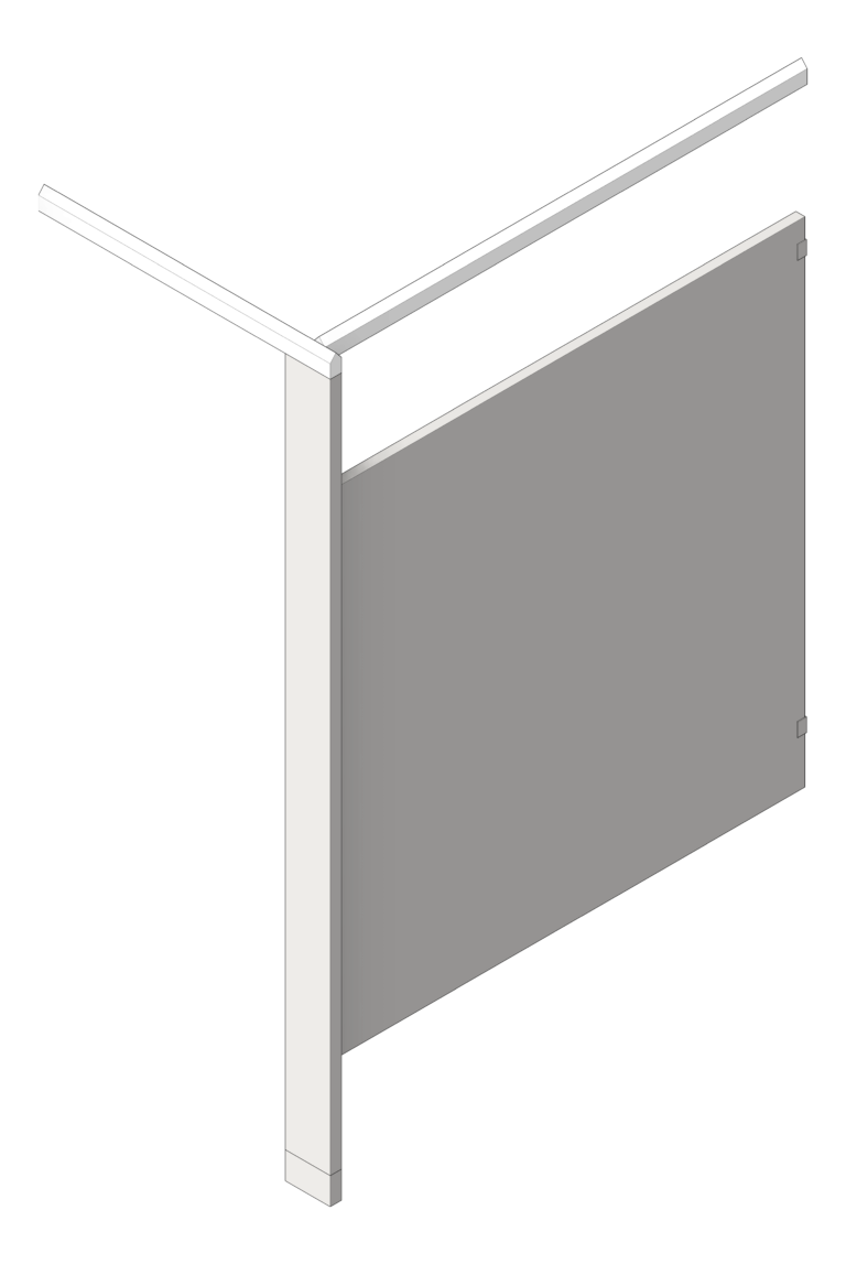 UrinalScreen_FloorAnchored_GlobalPartitions_StainlessSteel_OverheadBraced_3D Shaded