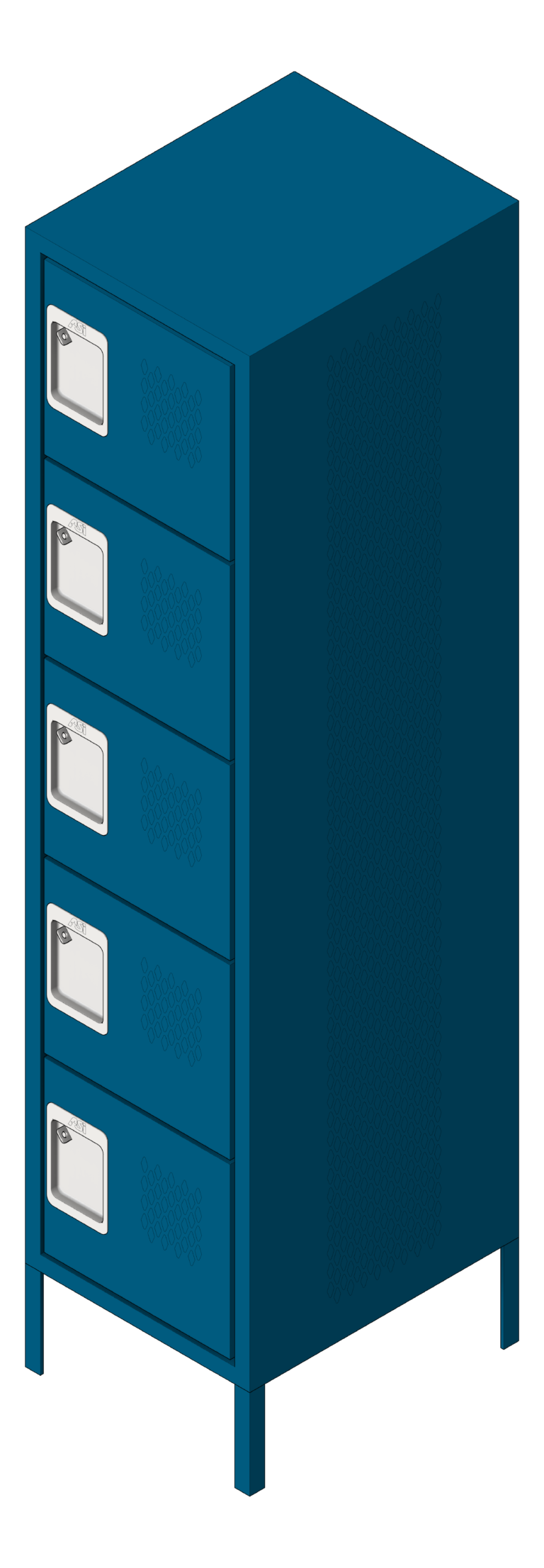 Locker_Metal_ASI_Competitor_FiveTier_3D Shaded