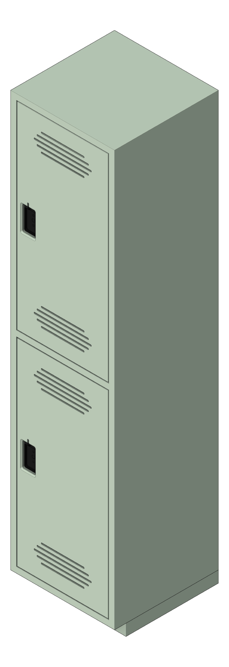 Locker_Plastic_ASI_TraditionalPlus_DoubleTier_3D Shaded
