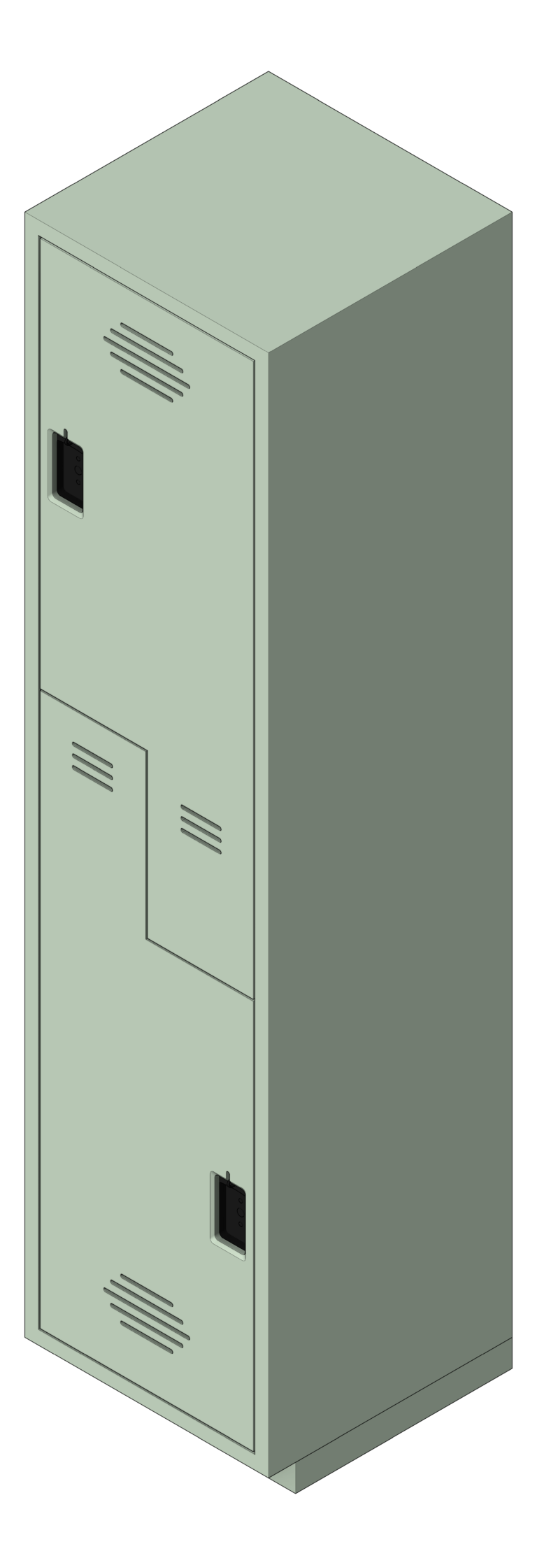 Locker_Plastic_ASI_Traditional_2PersonZ_3D Shaded