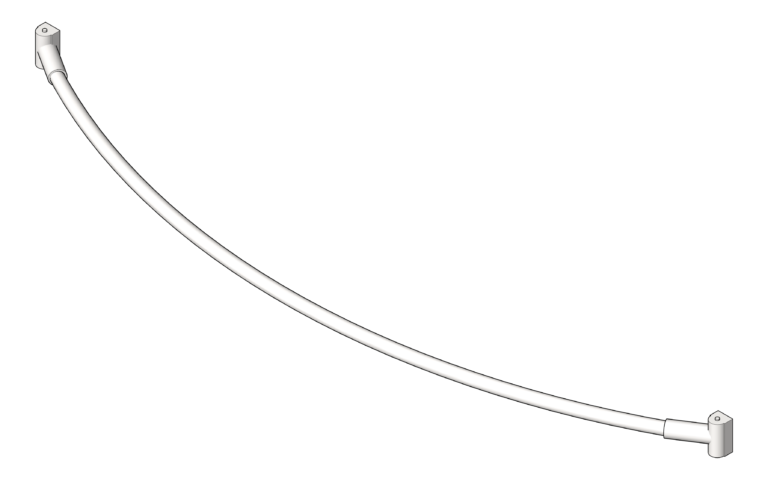 CurtainRod_Curved_ASI_1InchDia_3D Shaded