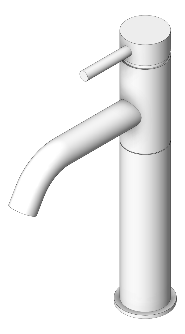 Mixer_Basin_Abey_Lucia_High_CurvedSpout_3D Shaded