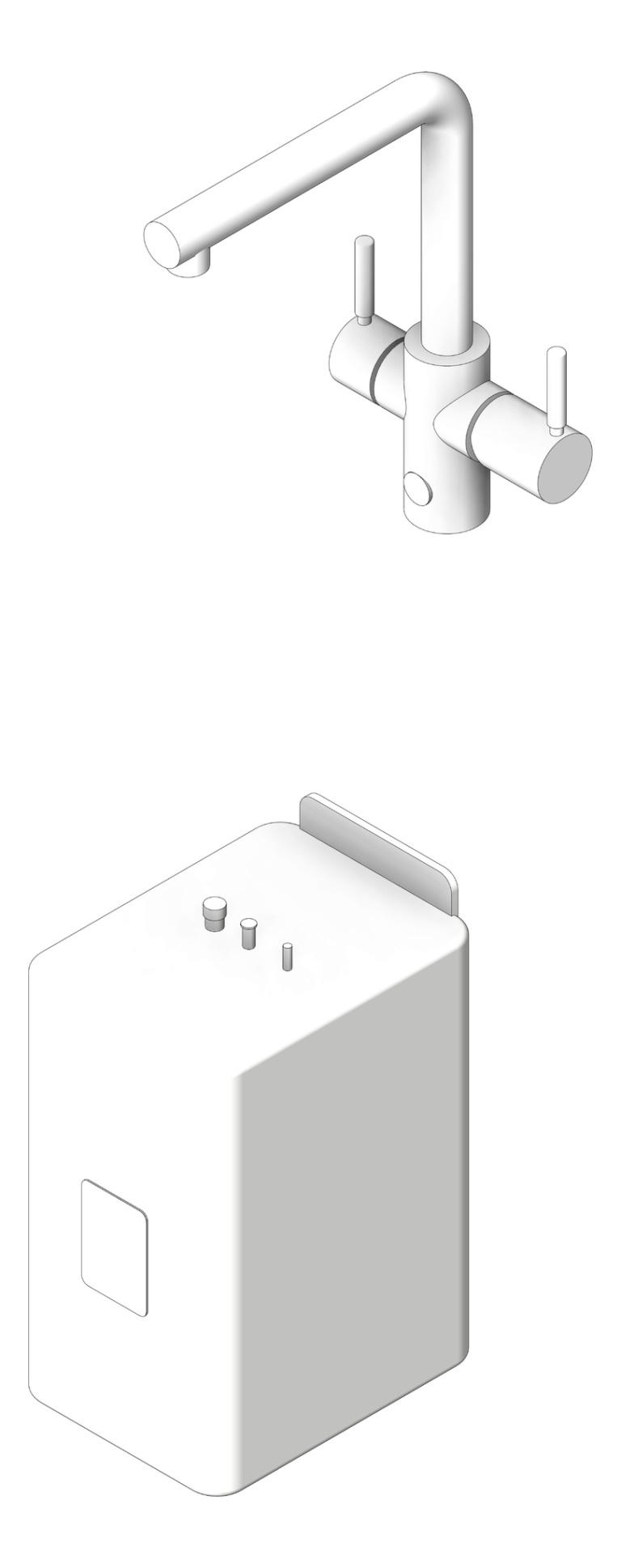 Multitap_Assembled_InSinkErator_4in1Ambient_Lshape_3D Shaded