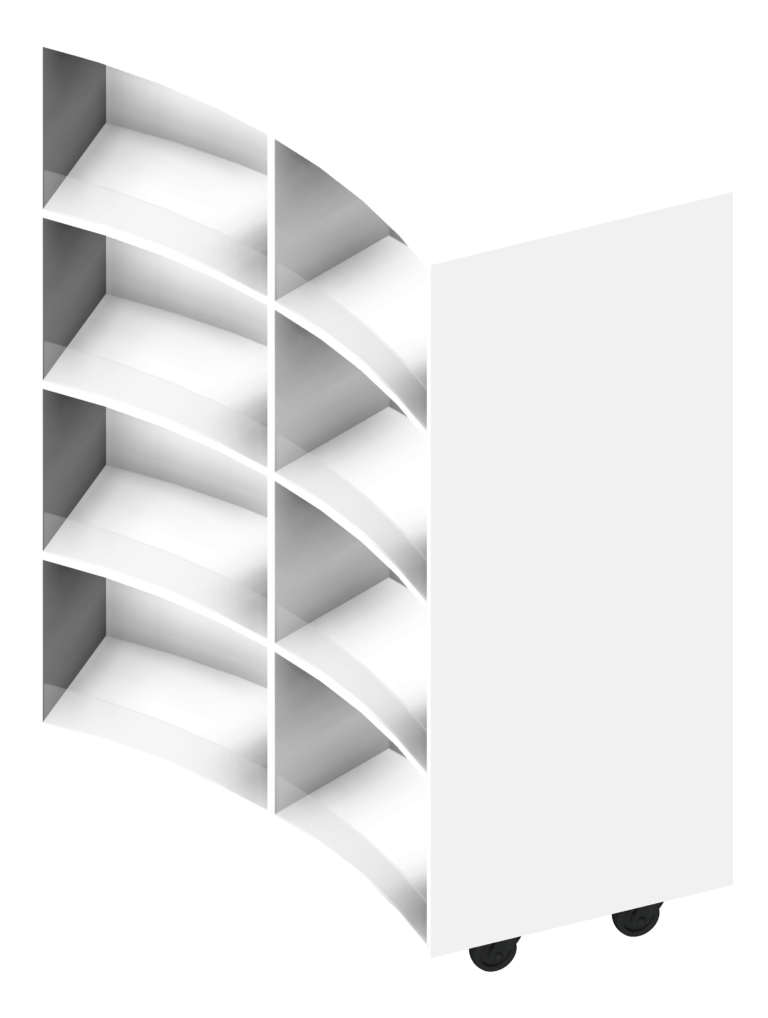 Shelving_Library_IntraSpace_Wave_4Tier_3D Presentation