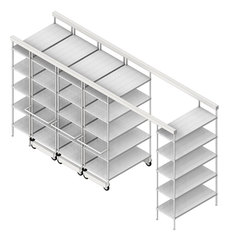 Shelving_Track_IntraSpace_IntraMedWireShelving_3D Shaded