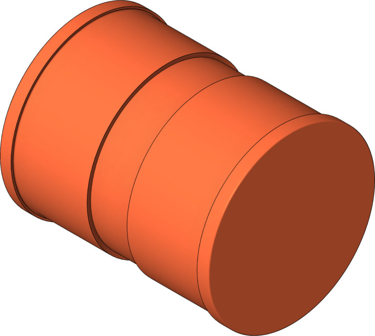 KemPress_Connector_MMKembla_Copper_Large_3D Shaded