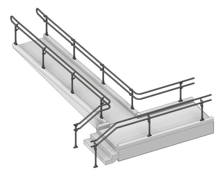 Handrail_Accessible_Moddex_Assistrail_3D Shaded