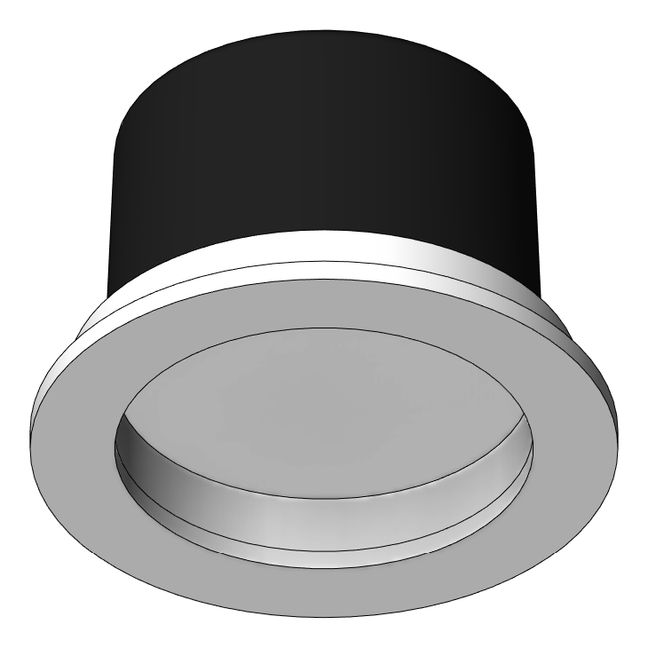 Lighting_CeilingRecessed_Unios_ApexFixed_Small_3D Shaded